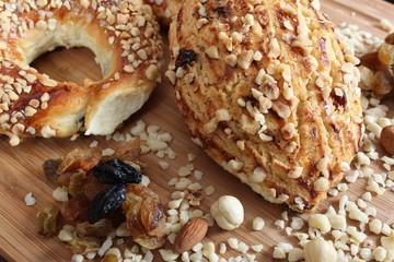 Hazelnut Cookies and Croissants