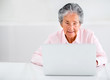 Elder woman using a laptop