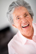 Lovely old woman laughing