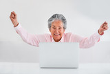 Elder woman online success