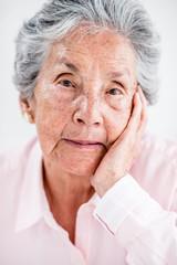 Beautiful portrait of an elder woman