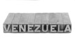 Venezuela sign, antique metal letter type