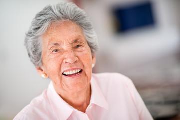 Very happy senior woman