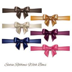 set of elegant bows