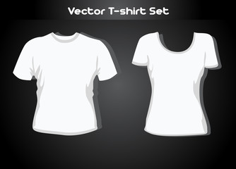 T-shirt design template (man and woman), eps10