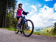 Healthy lifestyle - woman cycling