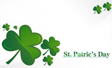 clovers for St. Patrick`s day, vector illustration