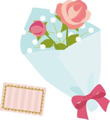 バラのシンプルな花束