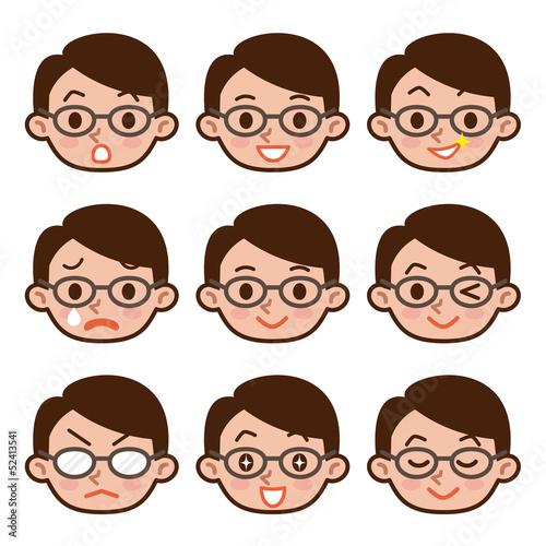 男性 表情 セット