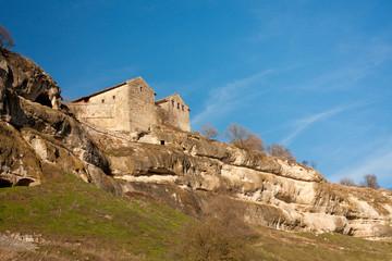Caving ancient city Chufut Kale in Bakhchisaray