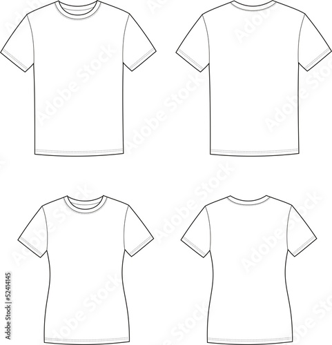 Vector illustration of men's and women's t-shirts - 52414145