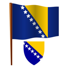 bosnia and herzegovina wavy flag