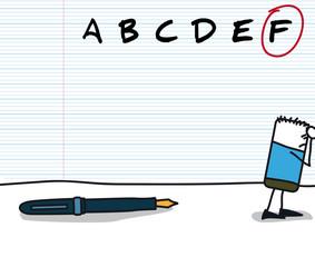 Note F à une évaluation