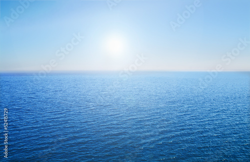 Poster Oceanië Blue sea and sky