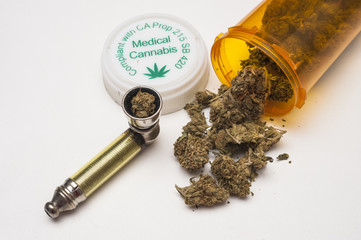 medical marijuana and pipe
