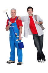Experienced and apprentice painter
