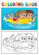 Detaily fotografie Coloring book swimming theme 3