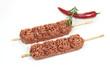 brochettes de viande hachée