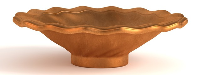 3d render of antique bowl