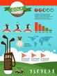 Golf vector infographics
