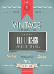Old Style Vintage Menu of the Day background