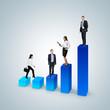Climb the career ladder concept. Business success concept.