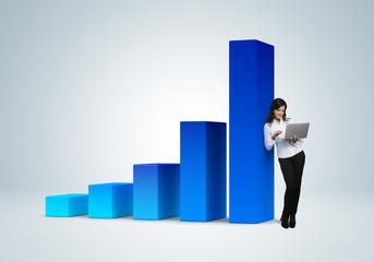 Financial report & statistics. Business success concept.