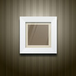 White frame square on wood wallpaper, vector