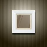 White frame square on wood wallpaper, vector