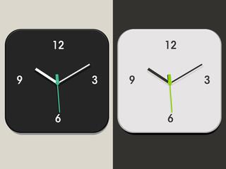 Horloge Blanche/Noire