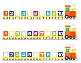 Math trains for kids : numbers 1-10