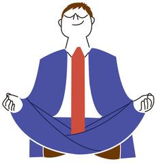 瞑想するビジネスマン
