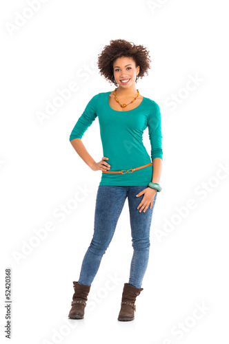 Portrait Of Happy  Woman Standing