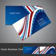 Business card set wave design vector illustration