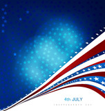 4th july american independence day creative wave vector backgrou