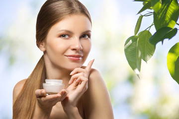 advertisement of natural cosmetic