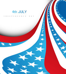 4th july american independence day fantastic wave design