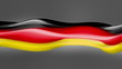 Abstract flowing flag. Germany. Loop.