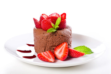 Strawberries With Chocolate Mousse