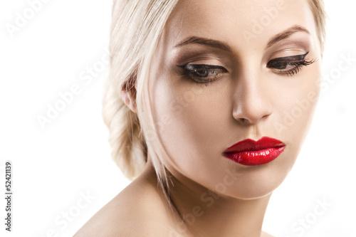 Fototapeten,gesicht,frau,lippenstift,sauber