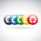 Vector recycle buttons