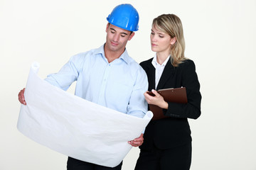 Architects with plans