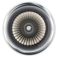Flugzeug Triebwerk - Turbine