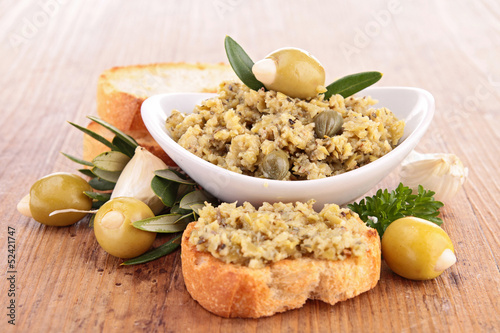tapenade and bread