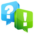 Question & Answer Speech Bubbles Blue/Green