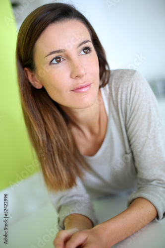 Portrait of smiling young brunette