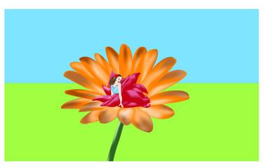 Fata sul fiore