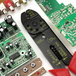 Green circuit board, wire stripper, electrical components