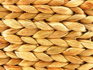 Close up of woven basket used as a background and texture