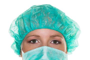 Ärztin mit Mundschutz